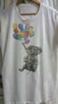 Elephant and balloons tee